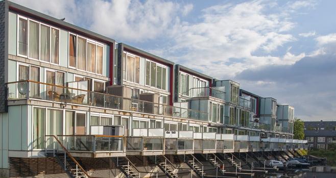 Flexwoningen moeten het nijpende woningtekort in Rotterdam verminderen